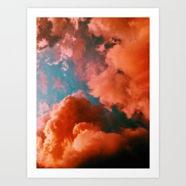 The Pink Clouds (Color) Art Print