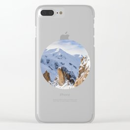 Rocky Snow Mountain Clear iPhone Case