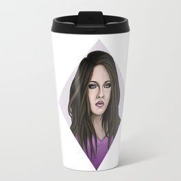 Young woman in violet Travel Mug