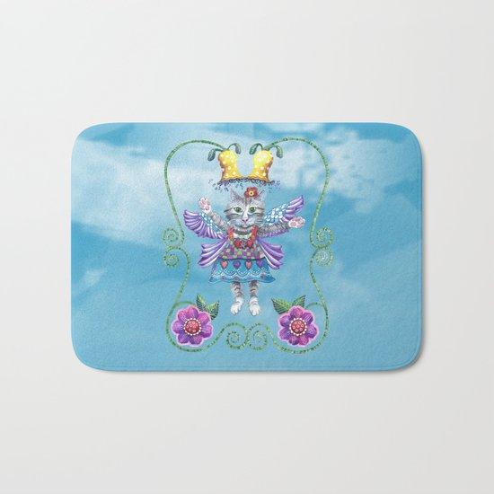Angel Kitty (Turquoise) Bath Mat