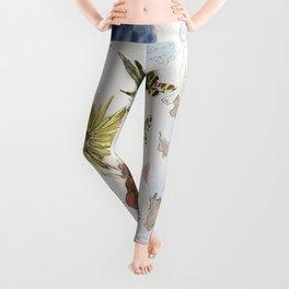 Salvador Dali - Fleurs et papillons Leggings