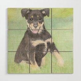 Puppy Portrait Wood Wall Art