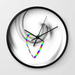 Hook heart Wall Clock