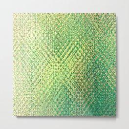 Iridescent Yellows Greens Metal Print