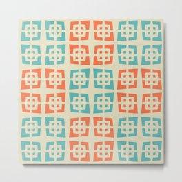 Mid Century Modern Abstract Pattern 821 Metal Print