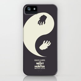 The night of the hunter, minimal movie poster (Robert Mitchum, Charles Laughton) classic Hollywood iPhone Case