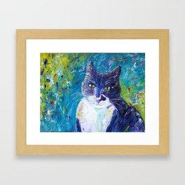 Cat Impressionistic Framed Art Print