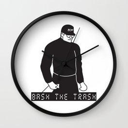 Bash the Trash Wall Clock