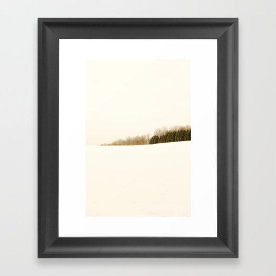 Field of snow Framed Art Print
