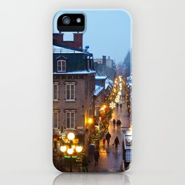 Quebec City Winter iPhone Case