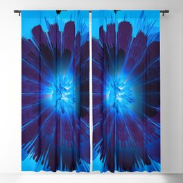 blue flower Blackout Curtain
