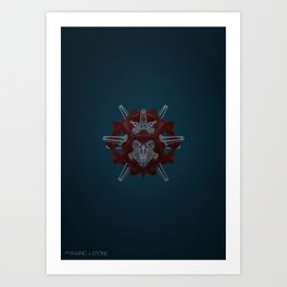 Abstract Fabric and Stone Art Print