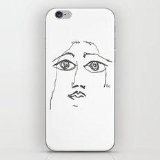 Woman gazing iPhone & iPod Skin