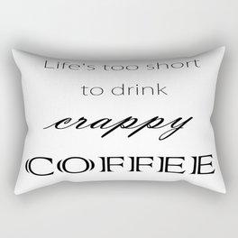 """Crappy Coffee"" Rectangular Pillow"