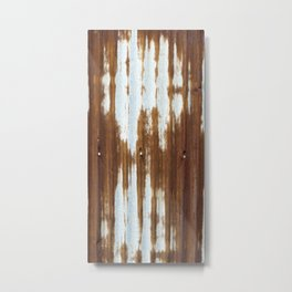 Rusted Corrugated Tin rustic decor Metal Print