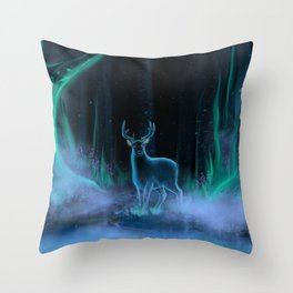 Startled Throw Pillow