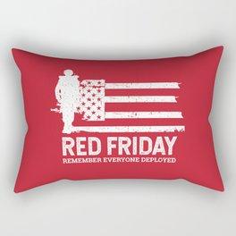 Red Friday Remember Deployed Military Rectangular Pillow