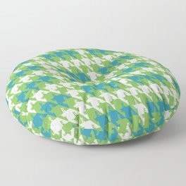 Where is the reindeer of Santa?_M  Lgray&Lime Floor Pillow