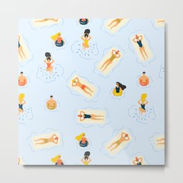Abstract Summer Fun Bathing Time Pattern Metal Print