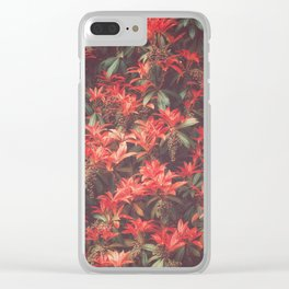 ROYAL SCARLET RED Clear iPhone Case