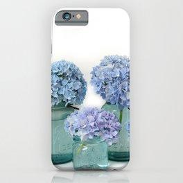 Hydrangeas Mason Jars Bottles Shabby Chic Cottage  iPhone Case