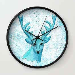 Blue Deer Wall Clock