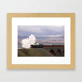 60103 Flying Scotsman at Ribblehead Framed Art Print