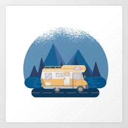 Motorhome Camping Caravan Van Art Print