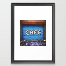 Blue Cafe Framed Art Print