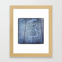 Chalked Broken Heart Framed Art Print