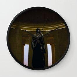 Thomas Jefferson @ his Memorial in Washington DC Wall Clock