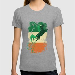 Distressed Irish Flag St Patricks Unicorn T-shirt