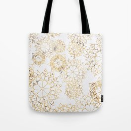 Modern hand painted brown yellow watercolor floral illustration Tote Bag