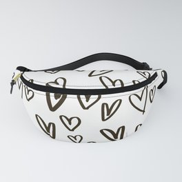 BLACK HEARTS Fanny Pack