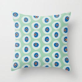 Evil Eye Charm - Hemlock  Throw Pillow
