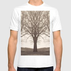 The Mirrored Trees MEDIUM Mens Fitted Tee White