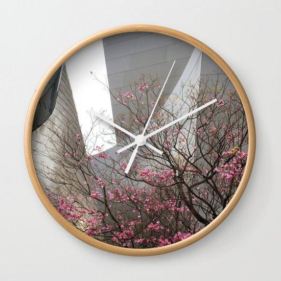 City Blossoms Wall Clock