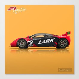 McLaren F1 GTR #13R - 1996 Le Mans - Side View Canvas Print