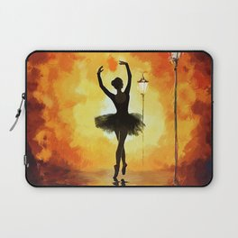 Dancing Silhouette - Yellow Laptop Sleeve