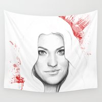dexter Wall Tapestries featuring DEXTER by Olechka