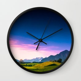 Sunset Hills Wall Clock