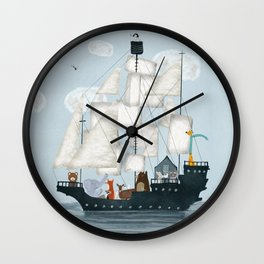 a nautical adventure Wall Clock