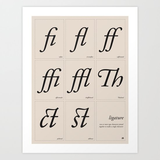 Ligature Art Print