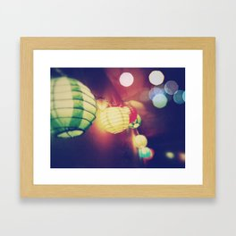 Light String Framed Art Print
