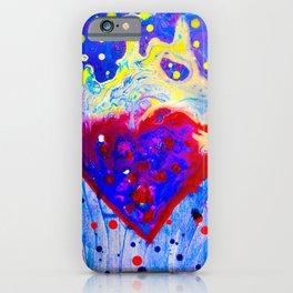 Gushing Fluid Heart  iPhone Case