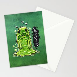 Cartoon Nausea Monster Stationery Cards