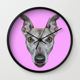 Whippet // Lilac (Vespa) Wall Clock