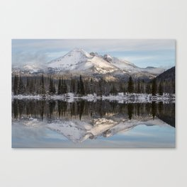 Broken Top sunrise reflection Canvas Print