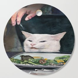 Woman Yelling at Cat Meme-2 Cutting Board