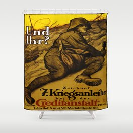 Vintage poster - Austrian War Bonds Shower Curtain